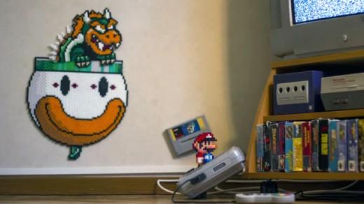 Super Mario Stop-motion skapad av pärlor!